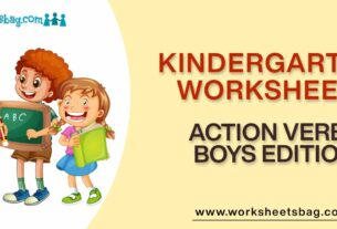 Action Verbs Boys Edition Worksheets Download PDF