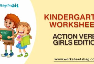 Action Verbs Girls Edition Worksheets Download PDF
