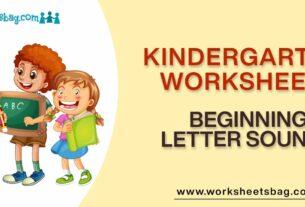 Beginning Letter Sounds Worksheets Download PDF