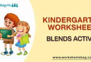 Blends Activity Worksheets Download PDF