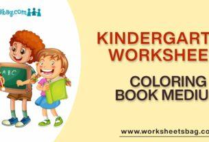 Coloring Book Medium Worksheets Download PDF