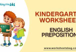 English Prepositions Worksheets Download PDF