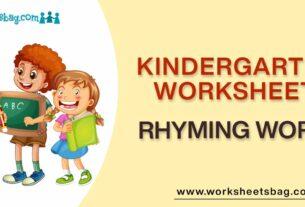 Rhyming Words Worksheets Download PDF
