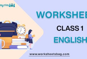 Worksheets for class 1 english