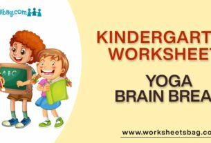 Yoga Brain Break Worksheets Download PDF