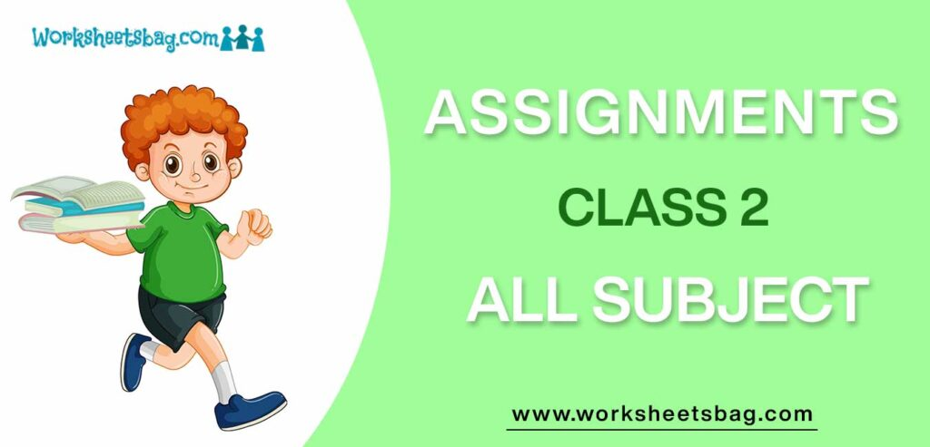 Assignments For Class 2 Download PDF