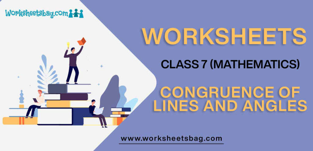 Worksheet For Class 7 Mathematics Congruence Of Lines And Angles