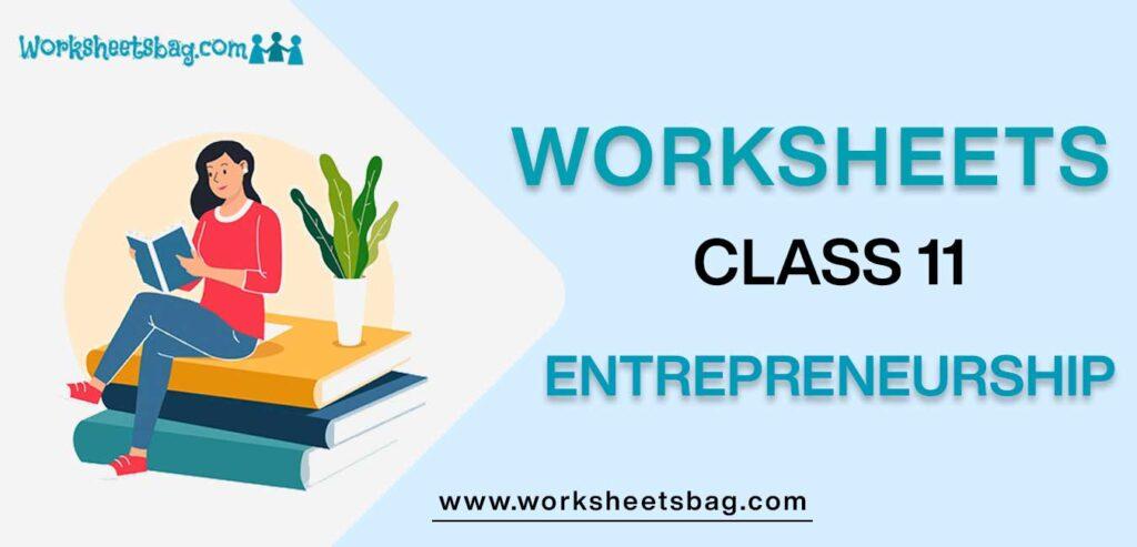Worksheets For Class 11 Entrepreneurship