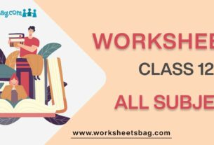 Worksheets for Class 12 all subject