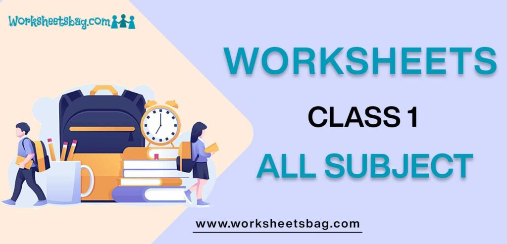Worksheets for Class 1   CBSE Class 1 Worksheets latest Session in PDF