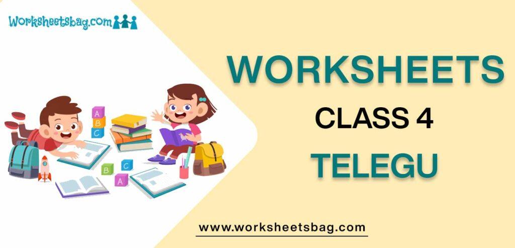 Worksheet For Class 4 Telegu