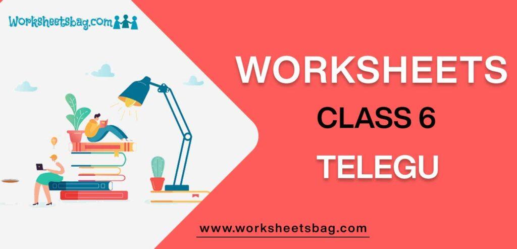 Worksheet For Class 6 Telegu